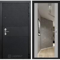 Входная дверь BLACK с зеркалом Максимум - Софт грей