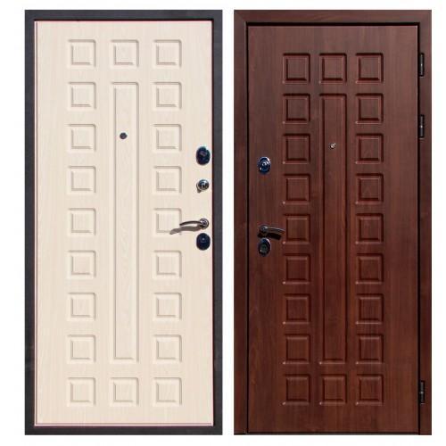Входная дверь - ЮГАНСК Юг Крит Орех Кьяро/Бел. Дуб VINORIT