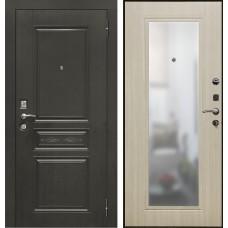 Входная дверь - VERDA SD Prof-10 Троя-Зеркало светлый дуб