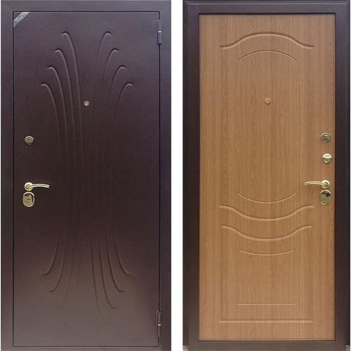 Входная дверь - Зетта Комфорт 2 Б1 Волна дуб золотистый