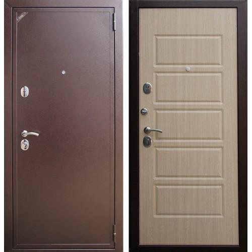 Входная дверь - Евро 2 Б2 Домино беленый венге