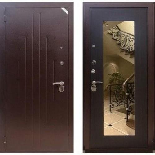 Входная дверь - Зетта Комфорт 2 Б1 венге темный +зеркало