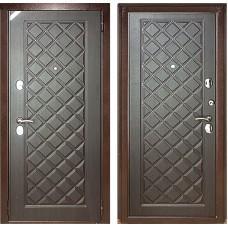 Входная дверь - Зетта Евро 3 Б2 Сетка венге