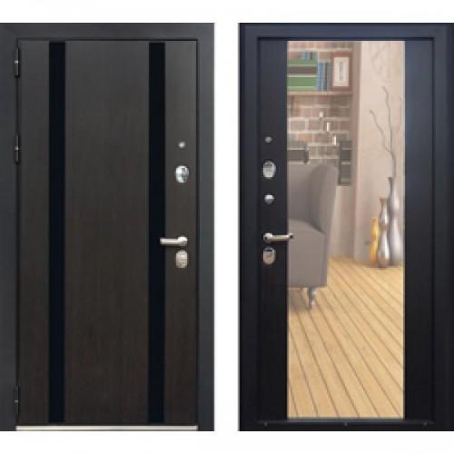 Входная дверь - ЗЕТТА ПРЕМЬЕР 100 К2 ВЕГА венге, зеркало
