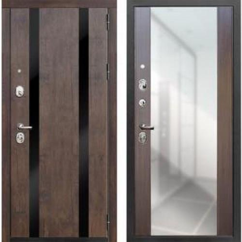 Входная дверь - Премьер 100 Вега КБ1 Тиковое дерево/зеркало