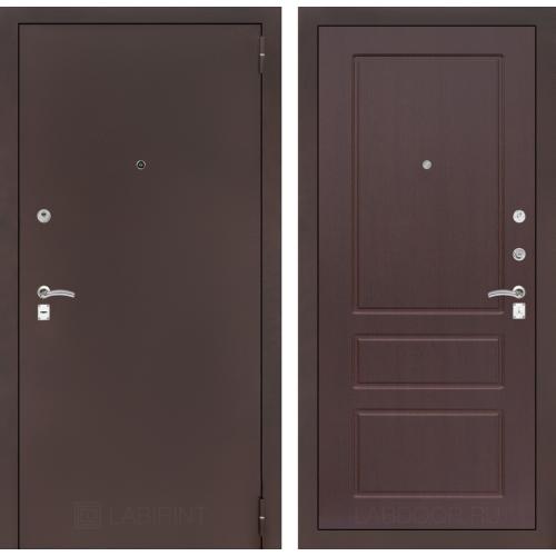 Входная дверь - CLASSIC антик медный 03 - Орех премиум