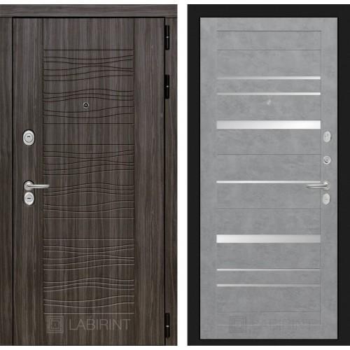 Входная дверь SCANDI 20 - Бетон светлый, зеркальные вставки
