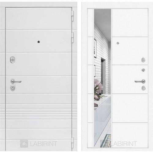 Входная дверь Трендо с Зеркалом 19 - Белый софт
