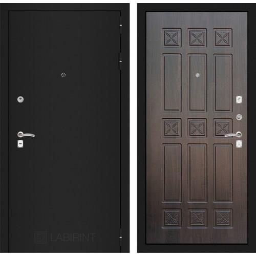 Входная дверь - CLASSIC шагрень черная 16 - Алмон 28