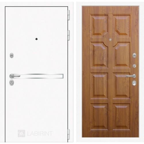 Входная дверь Лайн WHITE 17 - Золотой дуб