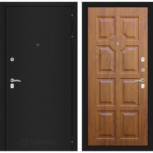 Входная дверь - CLASSIC шагрень черная 17 - Золотой дуб