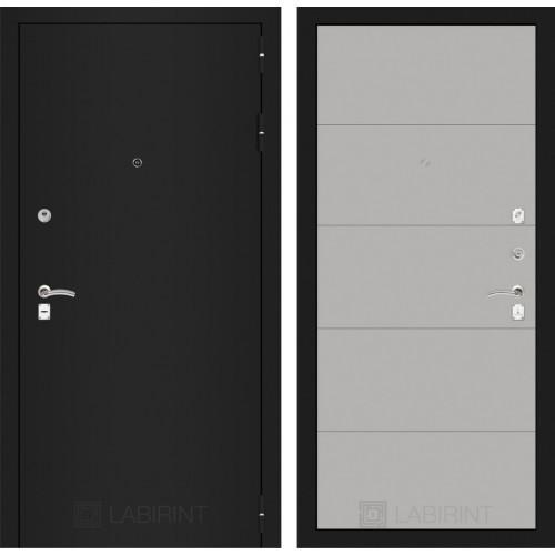 Входная дверь - CLASSIC шагрень черная 13 - Грей софт