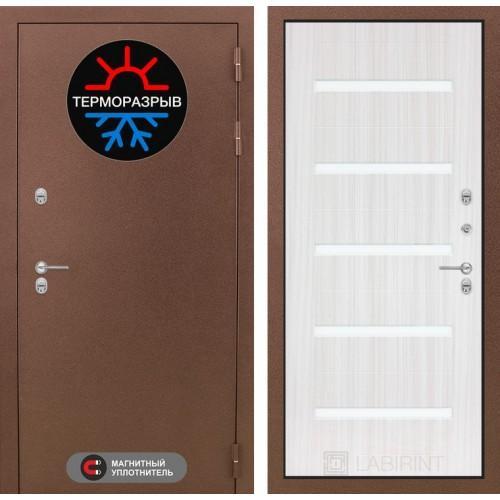 Входная дверь - Термо Магнит 01 - Сандал белый, стекло белое