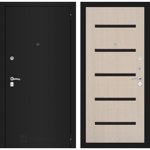 Входная дверь - CLASSIC шагрень черная 01 - Беленый дуб