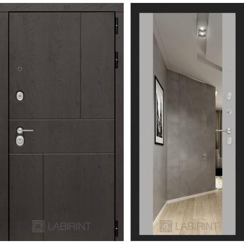 Входная дверь URBAN с Зеркалом Максимум - Грей софт