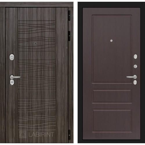 Входная дверь SCANDI Дарк грей 03 - Орех премиум