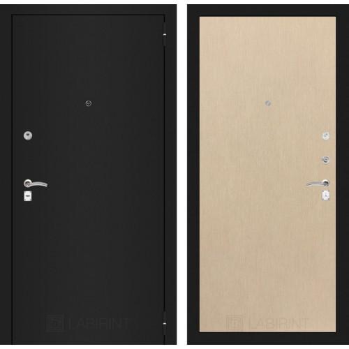 Входная дверь - CLASSIC шагрень черная 05 - Венге светлый