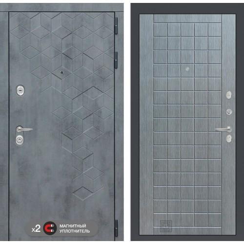 Входная дверь Бетон 09 - Лен сильвер грей