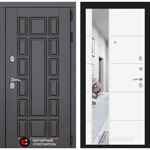 Входная дверь Нью-Йорк с Зеркалом 19 - Белый софт