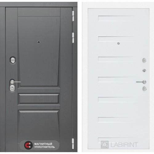Входная дверь Платинум 14 - Дуб кантри белый горизонтальный