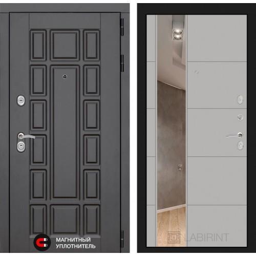 Входная дверь Нью-Йорк с Зеркалом 19 - Грей софт