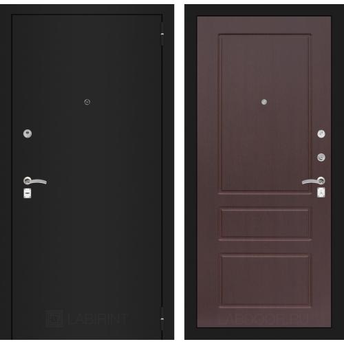 Входная дверь - CLASSIC шагрень черная 03 - Орех премиум