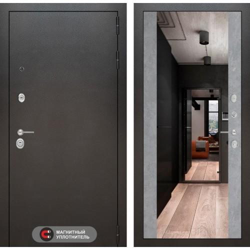 Входная дверь SILVER с Зеркалом Максимум - Бетон светлый