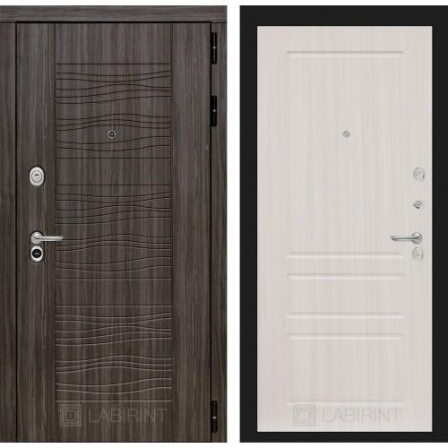 Входная дверь - SCANDI Дарк грей 03 - Сандал белый