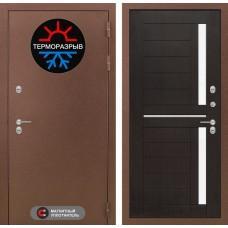 Входная дверь -  Термо Магнит 02 - Венге, стекло белое