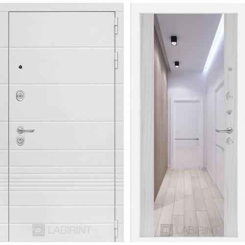 Входная дверь Трендо с Зеркалом Максимум - Сандал белый