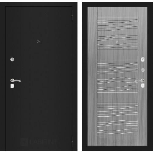 Входная дверь - CLASSIC шагрень черная 06 - Сандал серый