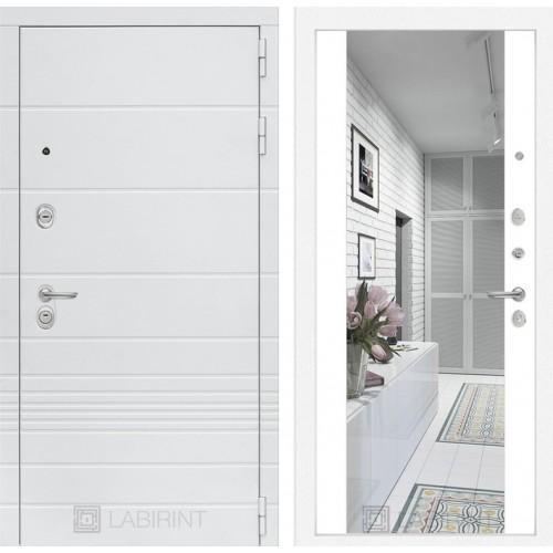 Входная дверь Трендо с Зеркалом Максимум - Белый софт