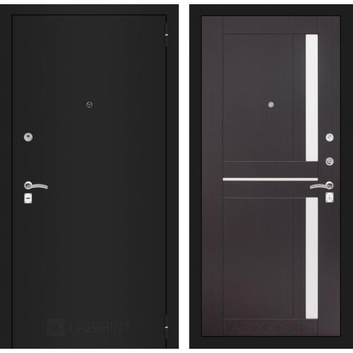 Входная дверь - CLASSIC шагрень черная 02 - Венге