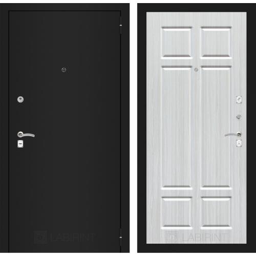 Входная дверь - CLASSIC шагрень черная 08 - Кристалл вуд