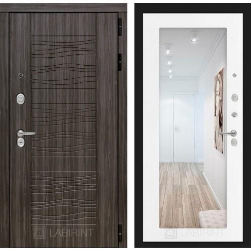 Входная дверь SCANDI с Зеркалом 18 - Белое дерево