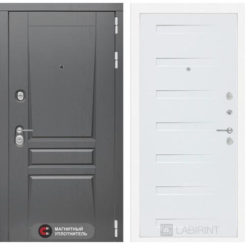 Входная дверь - Платинум 14 - Дуб кантри белый горизонтальный