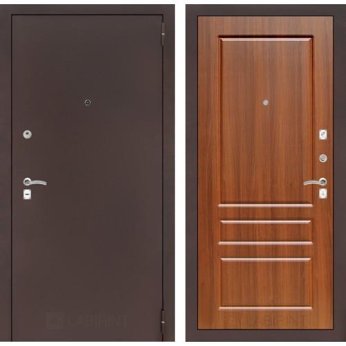 Входная дверь - CLASSIC антик медный 03 - Орех бренди
