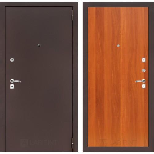 Входная дверь - CLASSIC антик медный 05 - Итальянский орех