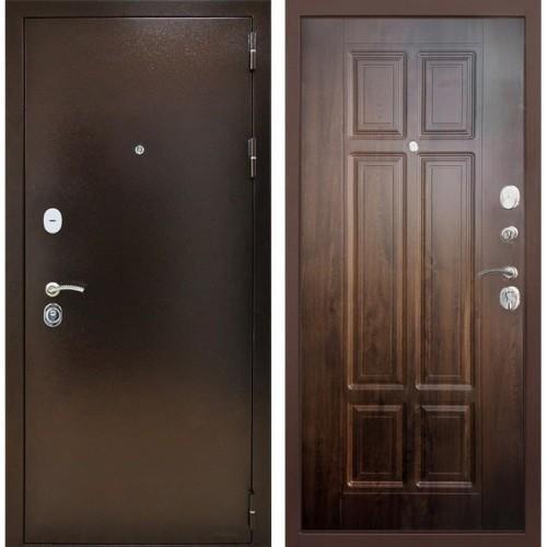 Входная дверь - Снедо Т30 3К (Медный антик / Винорит Грецкий орех)