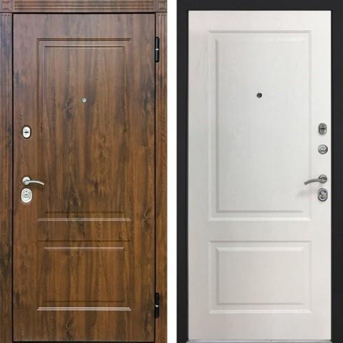 Входная дверь - Снедо V02 2K (Тёмный дуб / Альберо браш браун)