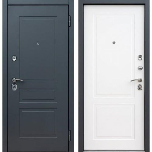 Входная дверь - Снедо Лорд 2К (Шагрень графит / Белый матовый)