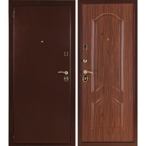 Входная дверь - Лайт Орех тисненый