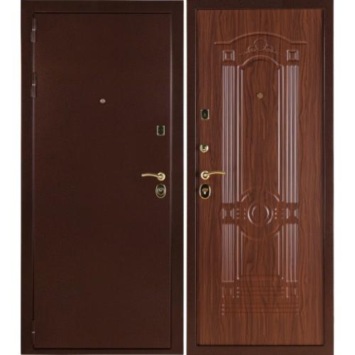 Входная дверь - Стандарт Орех Тисненый