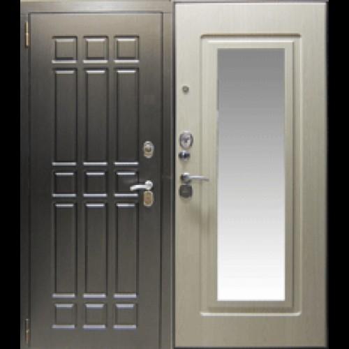 Входная дверь - Супер триумф (ЗЕРКАЛО Белое дерево)