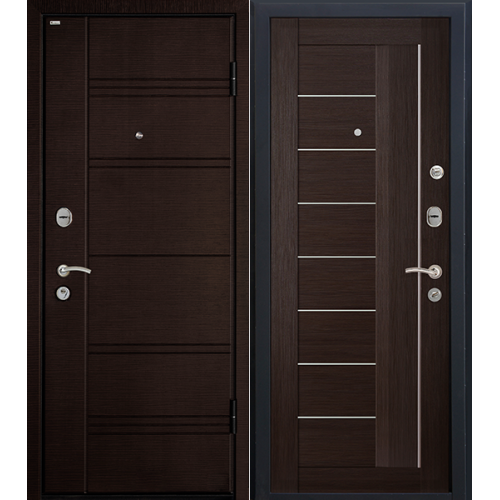 Входная дверь МеталЮр М17 (венге мелинга)